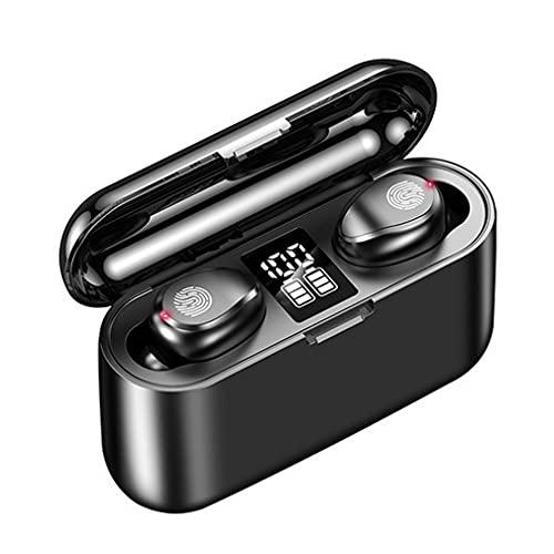 SeniorMar-UK wasserdichte LED-Anzeige Drahtlose Kopfhörer Sport Laufen Touch Control HiFi Stereo-Ohrhörer Headset für IOS schwarz 21x22,6x13,4mm
