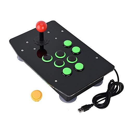 Vipxyc Consola de Juegos de Lucha Joystick 8 Botones de Control Redondos...