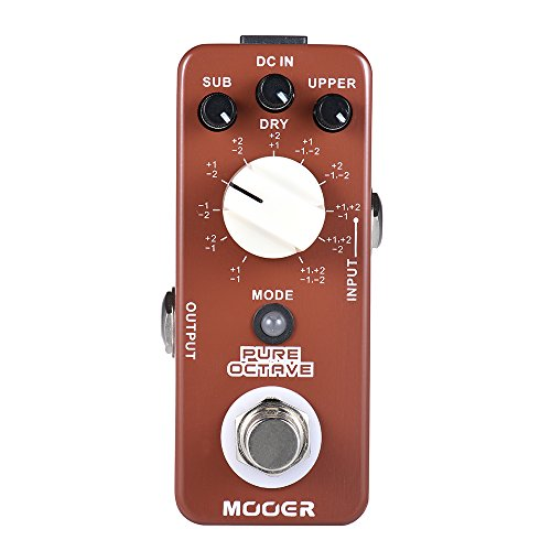 Muslady MOOER PURE OCTAVE Efecto Pedal de Guitarra Mini Octave 11 Modos True Bypass Full Metal Shell