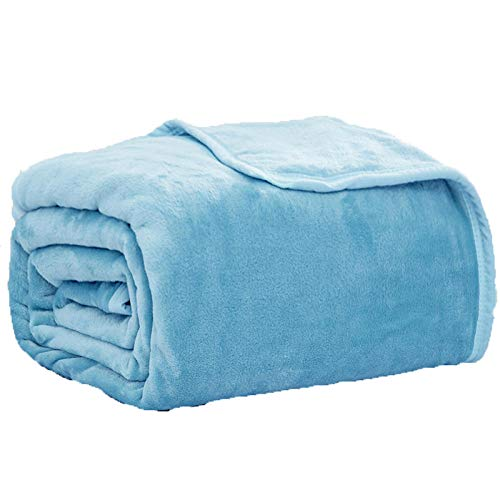 KOGM Flanellvlies auf dem Bett,It Has Excellent Elasticity/Lightweight/Warmth/no Shedding/Pilling/Gentle Breathability.