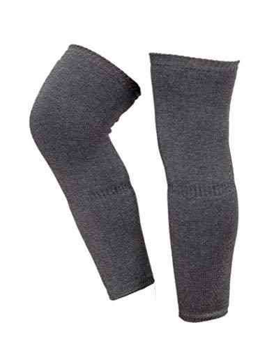 Malvina Unisex Warm Wool Winter Protection Knee Cap (Black)