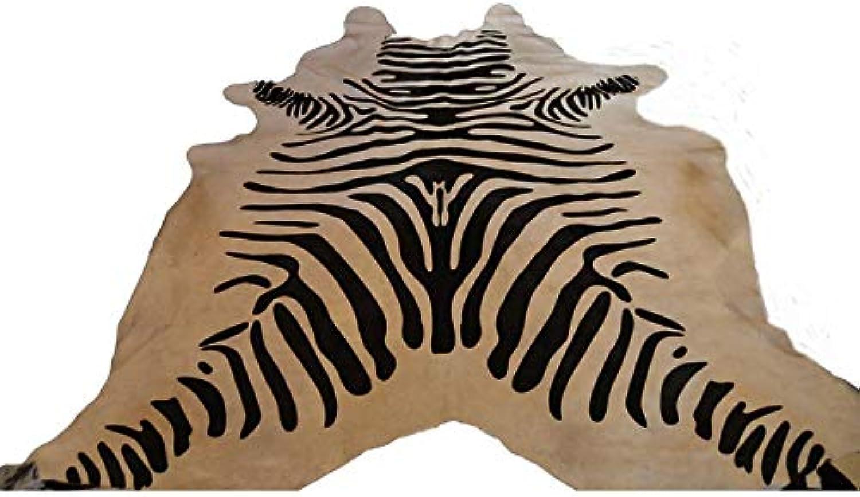 DESIGN AND VINTAGE TAPIS PEAU DE VACHE CUIR brown
