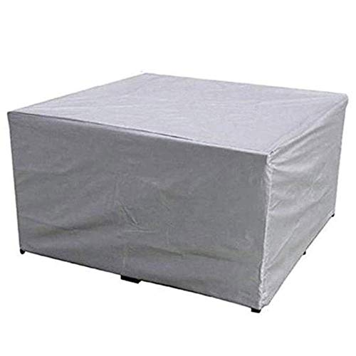 BAOFI 100x100x85cm Garden Furniture Covers Waterproof, Patio Furniture Cover Rectangle, Outdoor Protection Tarpaulin Set Patio Balcony Open Space, 29 Size,Silver