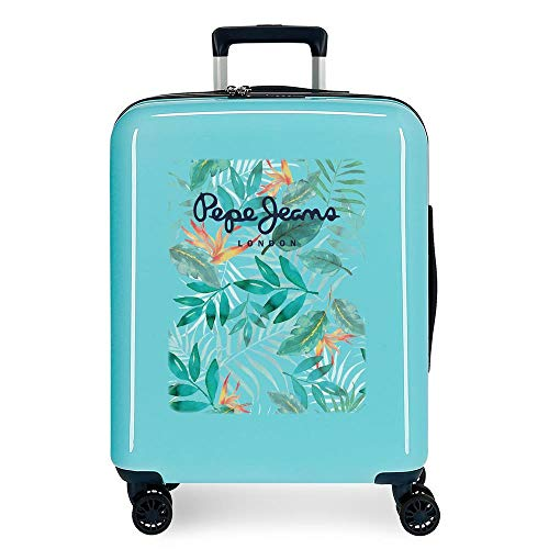 Pepe Jeans Morgan Cabin Suitcase Green 40 x 55 x 20 cm Rigid ABS Integrated TSA Lock 38.4L 2.5 kg 4 Wheels Double Hand Luggage