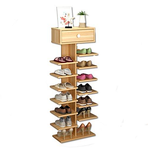 Zapatero para muebles de pasillo de 7 capas, simple, a prueba de polvo, fácil almacenamiento de gran capacidad, organizador de zapatos creativo económico (color : A, tamaño: 40 × 24 × 127)