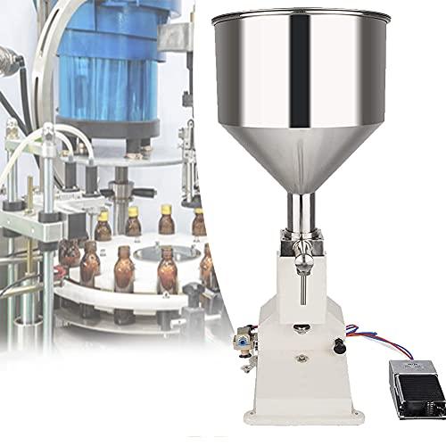 EnweOil Llenadora de Botella Neumática, Llenadora de Líquidos, Fácil de Limpiar y Desmontar, Una Máquina de Doble Uso para Líquidos y Pastas
