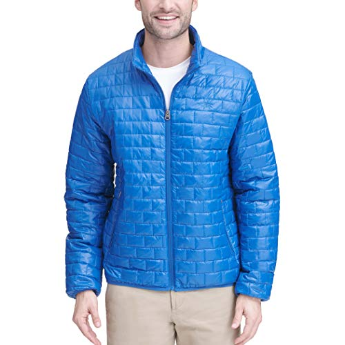 Dockers Mens Lightweight Ultra Loft Quilted Packable Jacket (Regular and Big & Tall), Royal Blue, Large