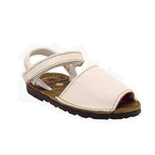 15091 - Sandalias ibicencas con Velcro Blanco