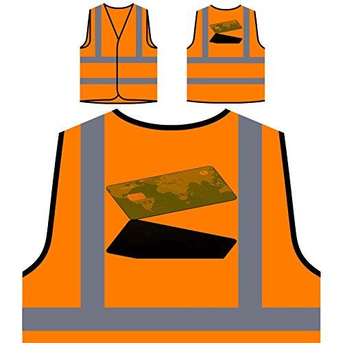 Zahlung Per Kreditkarte Personalisierte High Visibility Orange Sicherheitsjacke Weste p872vo