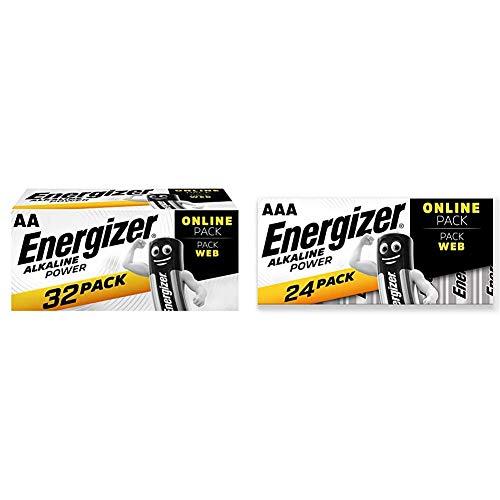Energizer Batterien AA, Alkaline Power, 32 Stück und Batterien AAA, Alkaline Power, 24 Stück