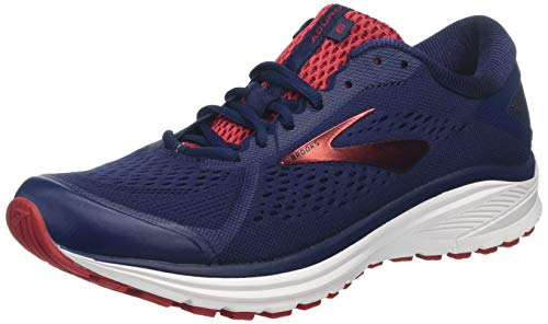 Brooks Aduro 6, Scarpe da Running Uomo, Blu (Navy/Cherry/White 416), 43 EU
