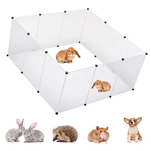 Bellanny Recinto per Animali Domestici, Recinzione da Esterno Piccoli Animali Cucciolo Run Box plastica Conigli Cani Gattini porcellini d'india (28 * 20)