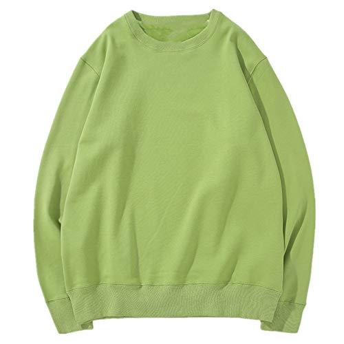 Suéter de cuello redondo de los hombres de primavera y otoño de Terry de la pareja de hombres sólidos