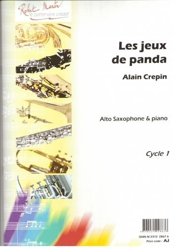 Partitie classificatie ROBERT MARTIN CREPIN A. - JEUX DE PANDA (LES), ALTO Saxofoon