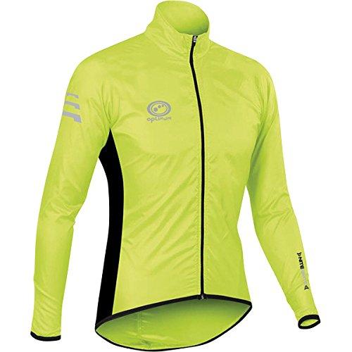 Optimum Chaqueta Impermeable para Ciclismo Nitebrite, Hombre, Verde, XL