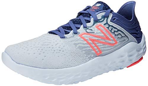 New Balance Women's Fresh Foam Beacon V3 Running Shoe, Moon Dust/Magnetic Blue/Guava, 9 Wide