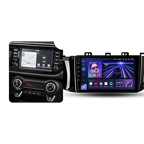 ADMLZQQ Android 10 9'' Car Multimedia 1 DIN para Kia Rio 4 2016-2019,con Control del Volante Cámara De Respaldo Enlace De Espejo 4G LTE+5G WiFi 3D Dinámica De Conducción En Tiempo Real,B,3+32G