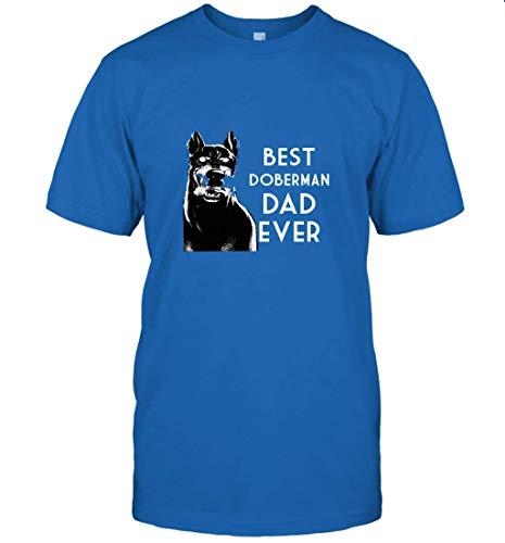 Funny Best Doberman Dog Dad Ever Shirt T-Shirt (Royal;L)