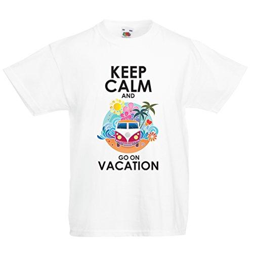 Camisas para niños IR de Vacaciones, Trajes Lindos, Ropa de Playa, Ropa de Resort (3-4 Years Blanco...