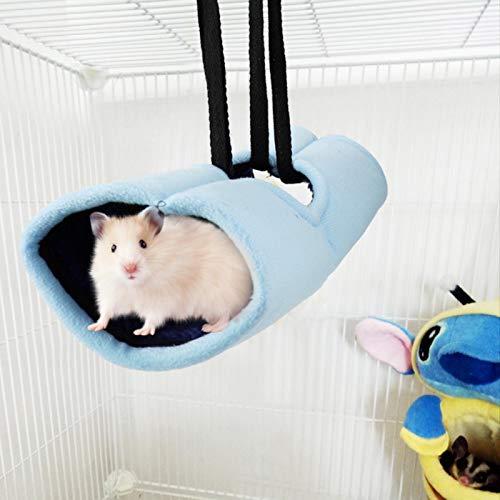 SALUTUYA Cama Colgante para Mascotas Suave y cómoda para Ardillas(Blue)