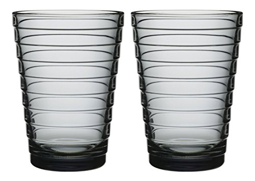 Iittala Aino Aalto Trinkglas 33cl, 2-er Set, grau