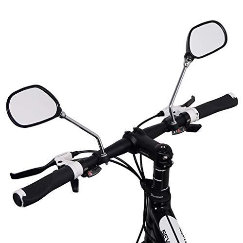 RXLLSY Un Juego de Espejos retrovisores de Vidrio para Bicicletas, Espejos retrovisores Ajustables con ángulo de Mirilla, Espejos para Bicicletas