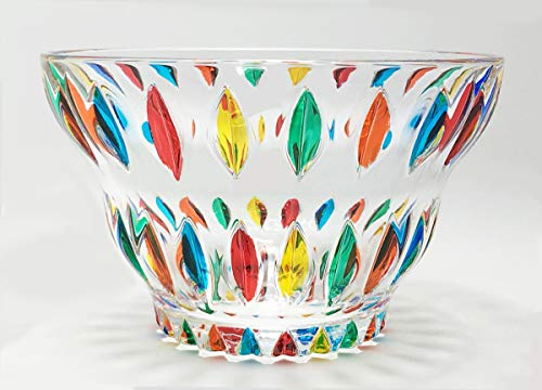 Murano Glass Candy Bowl - Hand Painted, Made in Italy
