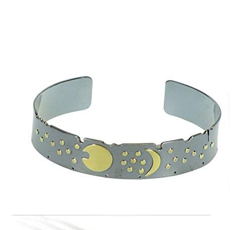 Himmelsscheibe von Nebra, Band - Armreif Armspange 925/- Silber, Sternenschmuck