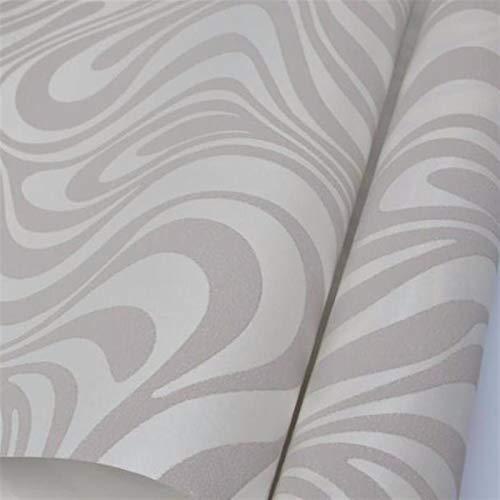 jidan Haltbar und einfach Wallpaper Frame Installation Hochwertiger 0.7m * 8.4m Modern Luxury 3D Wallpaper Rolle Wand Beflockung for gestreifte Tapeten 5 Farbe (Color : Cream White 950x53cm)