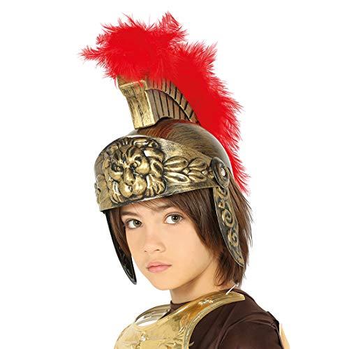 NET TOYS Römer-Helm für Kinder | Gold-Rot | Außergewöhnliches Jungen-Kostüm-Zubehör Centurio geeignet für Fasching & Karneval