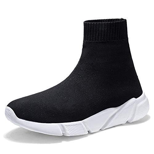 [Saturday] ソックス スニーカー メンズ ストレッチ ソックスブーツ 厚底 ニット ショートブーツ ウオーキング 美脚 歩きやすい 男女兼用