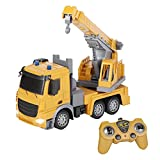 YGDKDIC RC Crane Truck Toy, 2.4G Remote Control Car Toy RC Construction Vehicles for Kids 3 Years Old and Up
