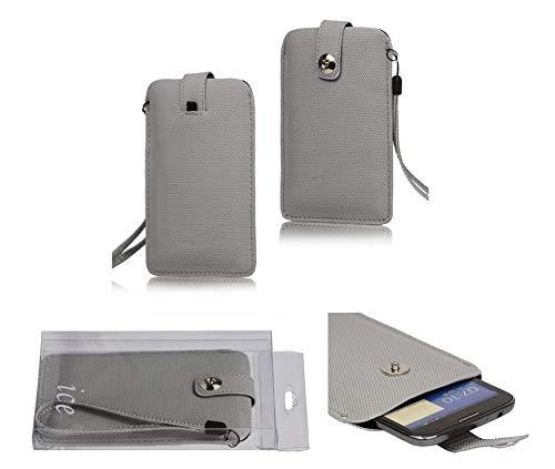 DFVmobile - Etui Tasche mit Texturierter mit Rausziehband& Magnetverschluss fürUMi Hammer S - GRAU