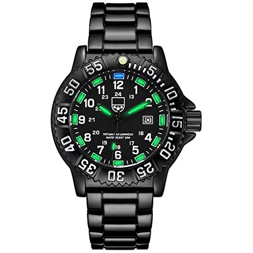 Hktec Reloj electrónico de cuarzo para hombre, resistente al agua, con correa de silicona, para negocios, informal, para exterior, deportivo, regalo para el día del padre