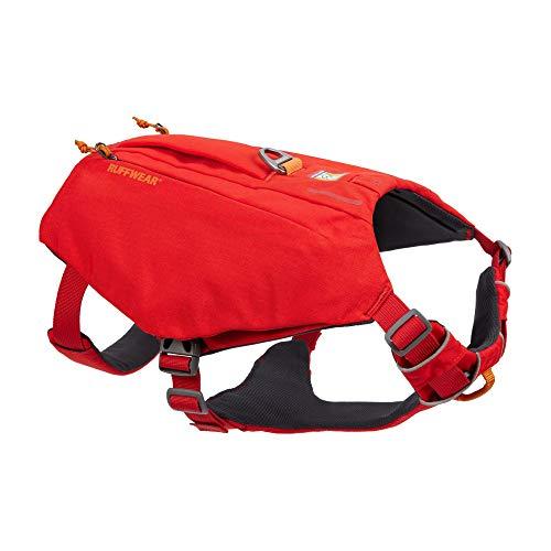 RUFFWEAR, Switchbak Dog Harness, Pack & Harness Hybrid for Day Trips & Everyday Use, Red Sumac, Medium