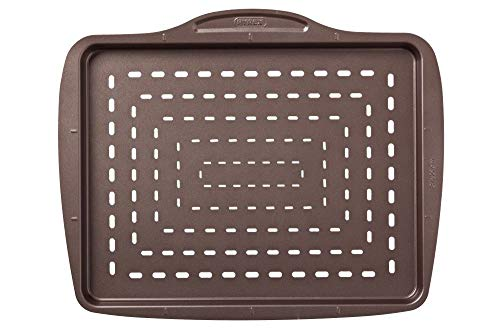 Pyrex Asimetria - Bandeja rectangular de pizza, 37 cm, color negro