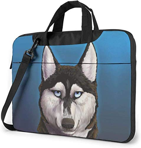 Laptop Shoulder Bag,Cool Alaska Dog Shockproof Laptop Sleeve Cover Business Messenger Bag Briefcase Handbag Case 13/14/15.6 inch