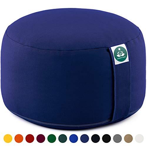 Present Mind Coussin Rond de Méditation et de Yoga - Hauteur d'assise 20 cm - pour S'asseoir au Sol avec Une Housse