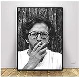 sechars Eric Clapton Kunst Poster Druck auf Leinwand