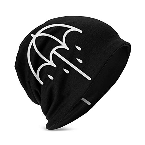Beanie Hut Bring Me The Horizon BMTH Regenschirm Logo Strickmütze Manschette Dünne Schädelkappe für Jungen Mädchen Schwarz HAT-254
