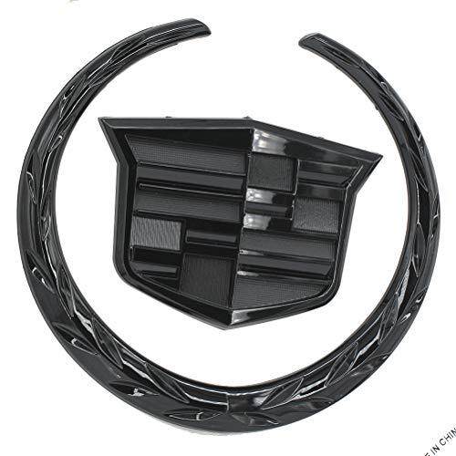 """Guzetop 6"""" Front Grille Emblem Hood Badge Logo Symbol for Cadillac (Black)"""