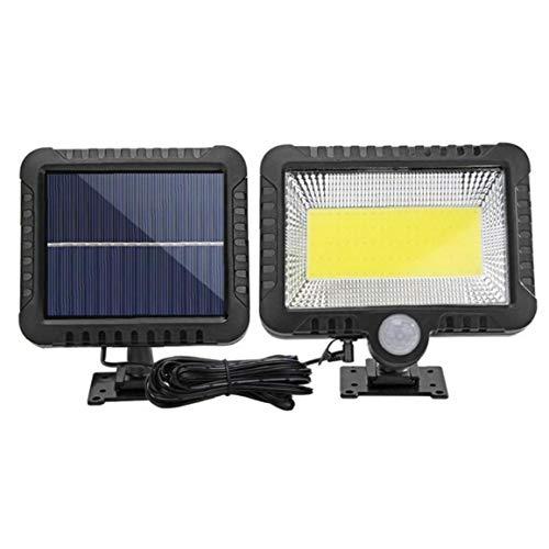 Sanfiyya Sensor Solar de la lámpara de la Calle Lights Pared 100 COB LED al Aire Libre Powered Impermeable Recargable inalámbrica para Navidad Jardín