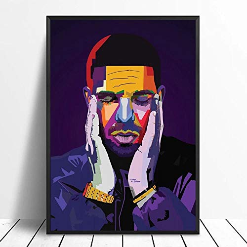 DIY 5D Diamond Painting Drake Pop Art Hip Hop Rapper Music Singer Star Poster for Home Decoration Diamond Painting Kit Gift Customizable Photos 30x40cm