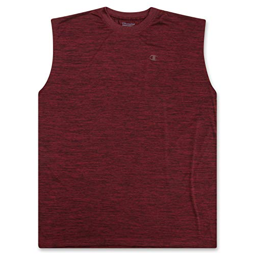 Big and Tall Men's Workout Tank Top - Sleeveless Gym Jersey Muscle Shirt Tank Maroon Heather 2X