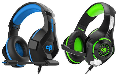 Cosmic Byte H11 Gaming Headset with Microphone (Black/Blue)&Cosmic Byte GS410 Headphones with Mic and for PS4, Xbox One, Laptop, PC, iPhone and Android Phones (