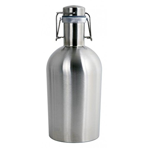 Alcraft Stainless Steel 64 Ounce Beer Growler, Silver