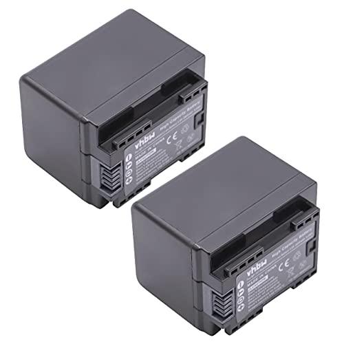 vhbw 2x Li-Ion batteria 2400mAh (3.6V) con infochip per telecamera videocamera camcorder Canon Legria HF R66, HF R68, HF R606 sostituisce BP-727