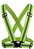 New JJMG Man/Woman High Adjustable Safety Security Visibility Reflective Neon Yellow Vest Gear...