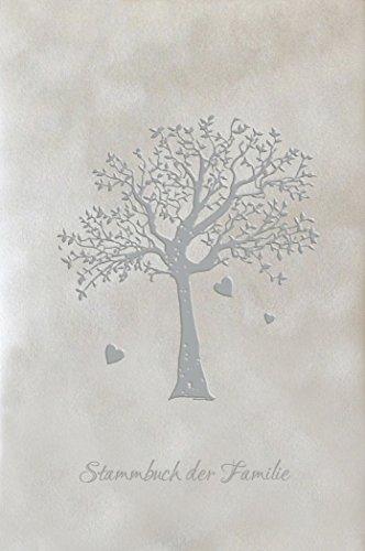 Stammbuch AHNENBAUM - grau, Velours, Silberprägung, Stammbuchformat A5