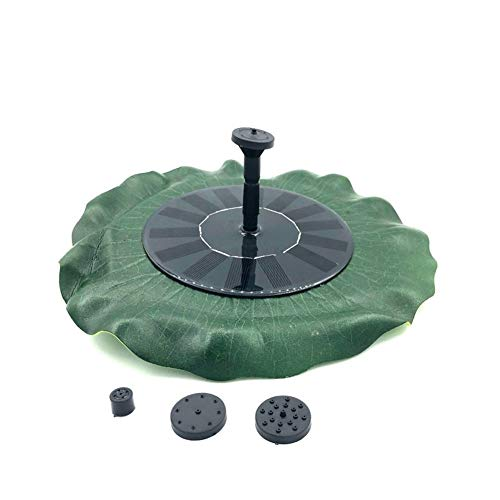 LNNUKc Fountain Garden Miniature Floating Solar Fountain Outdoor Fountain Simulation Lotus Leaf Floating Solar Fountain for Small Pond Swimming Pool Garden